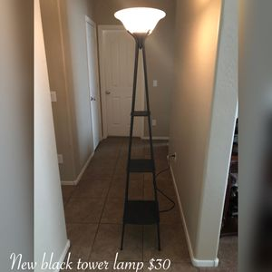New black tower floor lamp $30 firm for Sale in Laveen Village, AZ