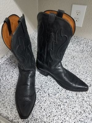 Lucchese Cowboy Western Boots - Snip Toe(black,size 10, Used) for Sale in Houston, TX