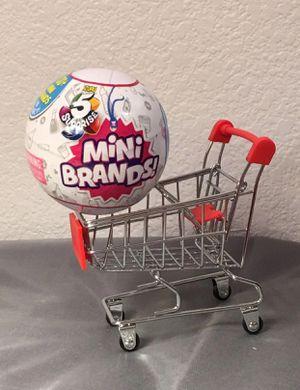 NEW zuru 5 surprise mini brand + cart SHIP ONLY for Sale in Riverside, CA