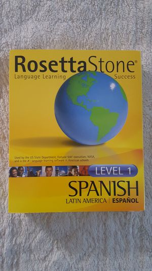 Rosetta stone Spanish level 1 for Sale in Tampa, FL