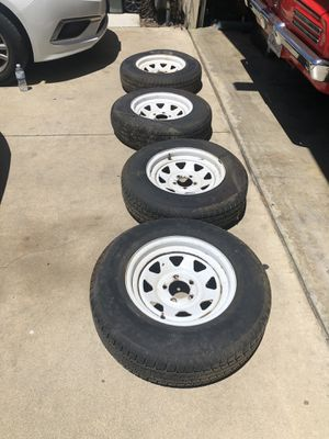 """15"""" Travel Trailer wheels 205/75/15 for Sale in Chino, CA"""