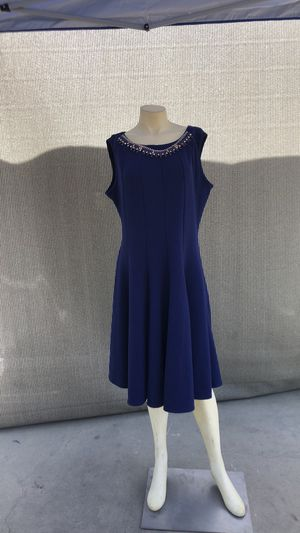 Electric Blue Pleated Dress Women's Size 20 for Sale in New Market, MD