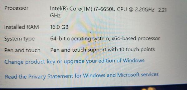 Surface Pro 4 intel Core i7 16GB with Fingerprint keyboard