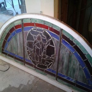 Antique stained glass window from the Rock Creek Baptist Church for Sale in Washington, DC