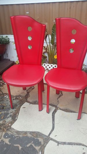Red chair leather for Sale in Orlando, FL