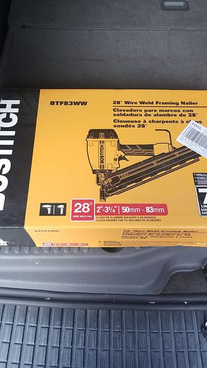 Bostitch nail gun (28° Wire weld framing Nailer) for Sale in Philadelphia, PA