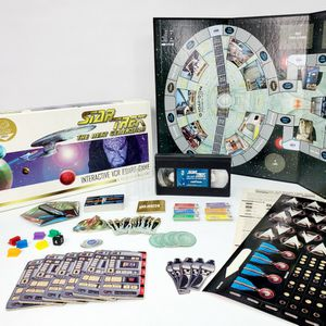 Star Trek The Next Generation Interactive VCR Board Game: A Klingon Challenge (1993) - Limited Edition - Complete for Sale in Trenton, NJ