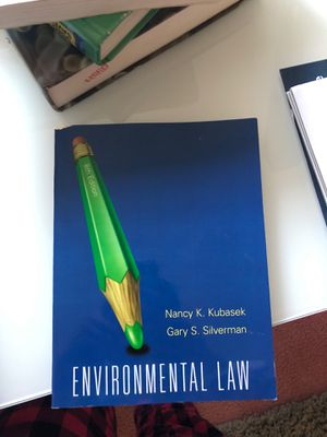 Environmental Law by Nancy K. Kubasek & Gary S. Silverman for Sale in Camarillo, CA