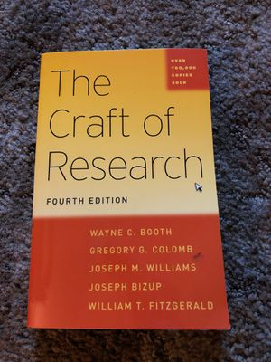 The Craft of Research for Sale in Garden Grove, CA