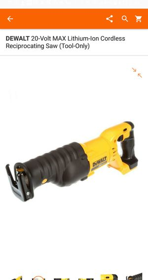 Sawzall 20V. TOOL ONLY for Sale in Falls Church, VA