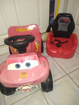 electric ride-on toy and booster chair for Sale in Pompano Beach, FL