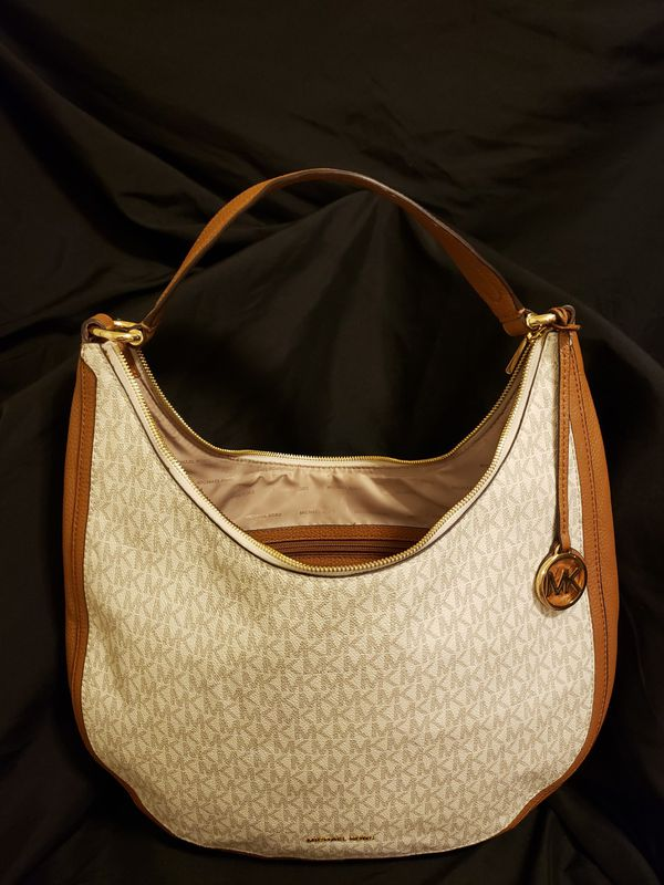 Vanilla Lydia Signature Hobo Bag Michael Kors