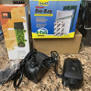 Aquarium Accessories - Air pump, Filter Cartridges, Submersible Pump And Bio Media Reactor for Sale in Falls Church, VA
