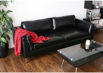 PU Leather Living Room / Office Sofa - New in Box - Black & Camel for Sale in Cheswick,  PA
