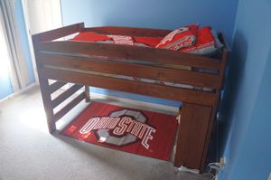 bunk bed with extensions and bookshelf for Sale in Hilliard, OH