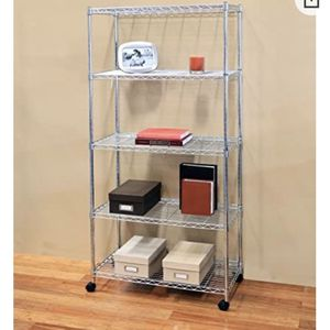 "5-tier steel wire shelving unit kitchen pantry shelves 23.5"" W x 18"" D x 74"" H for Sale in Queens, NY"