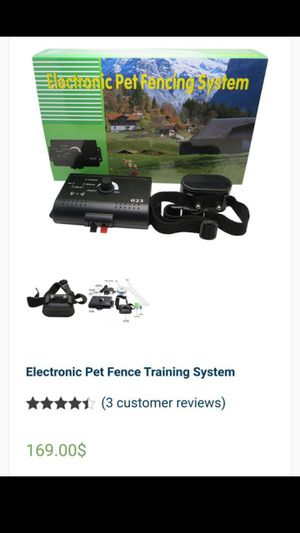 Electronic pet fence training system for Sale in Monrovia, CA
