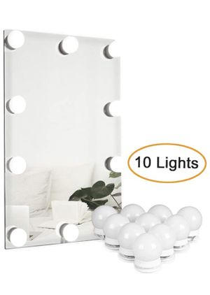 Hollywood Style LED Vanity Mirror Lights Kit with 10 Dimmable Light Bulbs Adjustable Brightness for Makeup Dressing Table in Lighting Fixture Strip, for Sale in Barre, VT