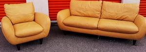 Orange faux leather Sofa Set for Sale in College Park, GA