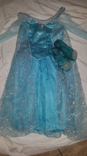Elsa dress up Disney park Costume and shoes for Sale in Kannapolis, NC