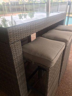 7-piece Outdoor Patio Bar Table Rattan Wicker for Sale in Tamarac, FL