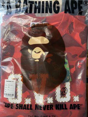 Bape & OVO Crewneck Size XL Red Camo for Sale in Snohomish, WA