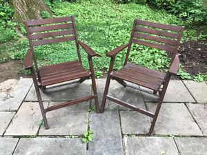 Outdoor wooden chairs for sale for Sale in Rockville, MD
