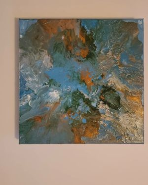 "Original 12"" x 12"" Abstract Acrylic Canvas for Sale in Ocoee, FL"
