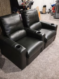 Black Manual Reclining Theater Seats for Sale in Yeadon,  PA