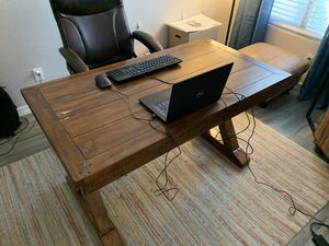 Rustic Farmhouse Craftsman Desk and Chair for Sale in Chandler, AZ