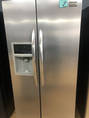 Frigidaire stainless steel side by side refrigerator for Sale in Woodbridge, VA