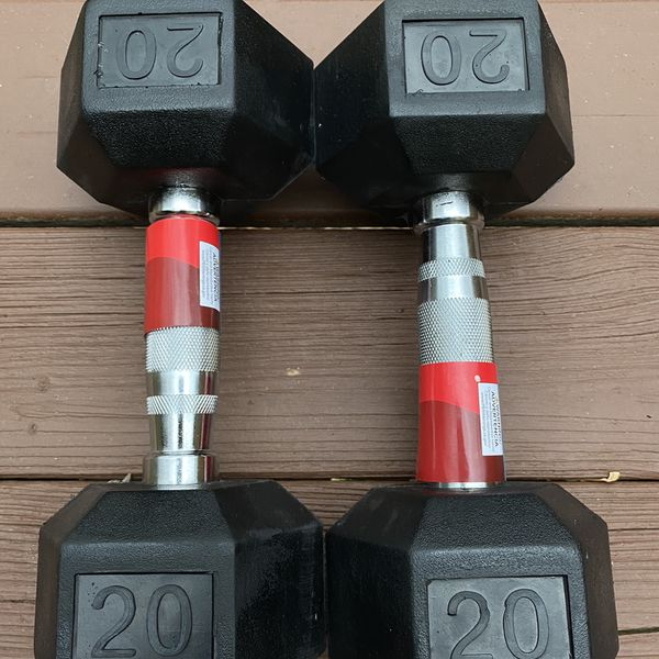 20 lbs Weider Rubber Hex Dumbbells Brand New Compare With Bowflex