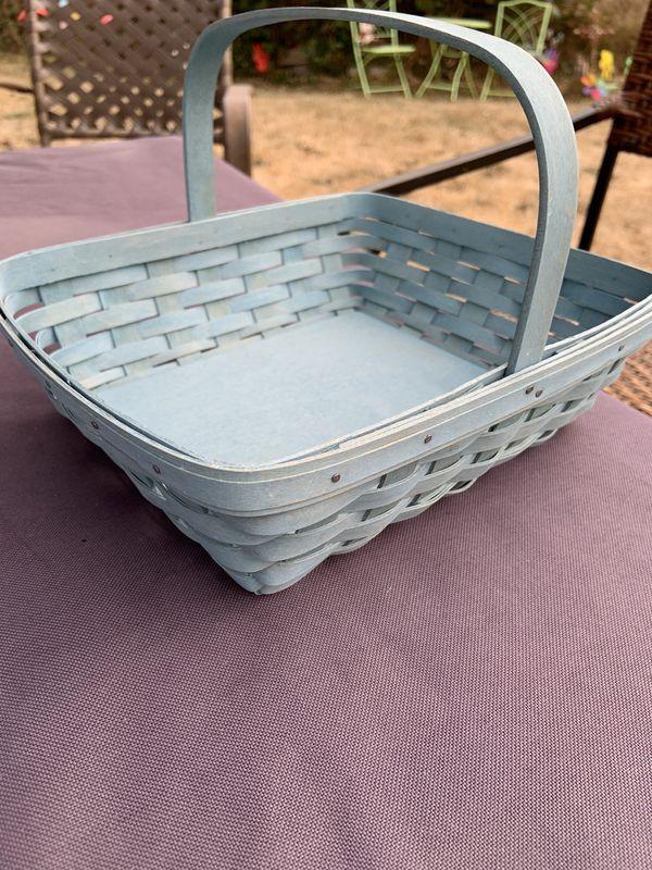2006 Longaberger Blueish green basket