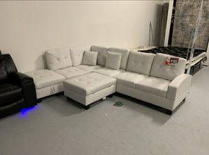 $39 Down  🍃🍂 BEST DEAL SPECIAL] Pablo White Sectional | U5300 for Sale in Jessup, MD
