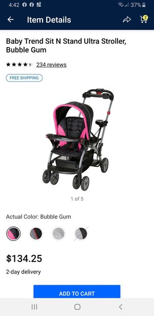 Sit and stand double stroller for Sale in Newport News, VA