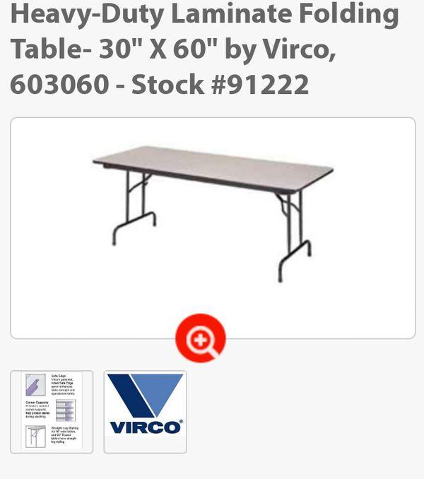 "Folding tables 30""x 60"""