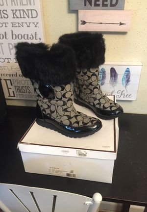 Women's size 7 1/2 coach boots for Sale in Norfolk, VA