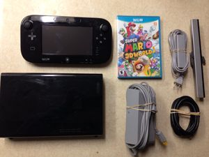 NINTENDO WII U with MARIO 3D WORLD GAME for Sale in San Diego, CA