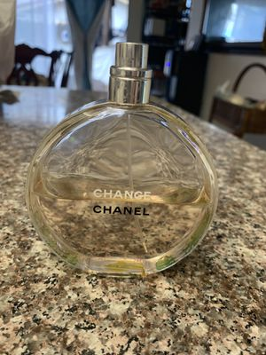 Chance Chanel perfume used like haf bottle 3.4 oz for Sale in Anaheim, CA
