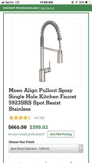 Moen kitchen faucet for Sale in Cumming, GA