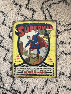 Superman metal tin sign for Sale in Nipomo, CA