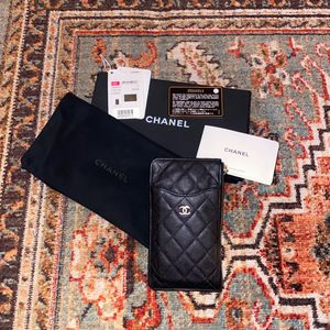 Chanel 19b Black Caviar Quilted Wallet/ Pouch for Sale in Manhattan Beach, CA