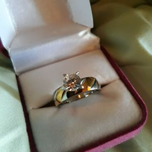 925 Sterling Silver Two Tones Engagement Ring, Size 9. for Sale in Dallas, TX
