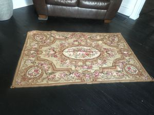 Hand waved needle point wool & silk rug or tapestry for Sale in Elmira, NY