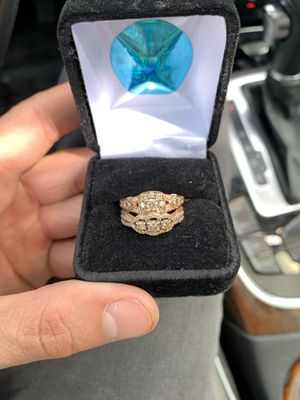 Two champagne diamond engagement rings for Sale in Adams, MA
