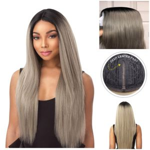 BrandNew beautiful Grey and black root Lace Front wig for Sale in Alexandria, VA