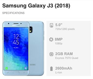 UNLOCKED - Samsung Galaxy J3 Android Phone for use worldwide- AT&T, Cricket, Metro, T-Mobile, Mint, Ting for Sale in Daly City, CA