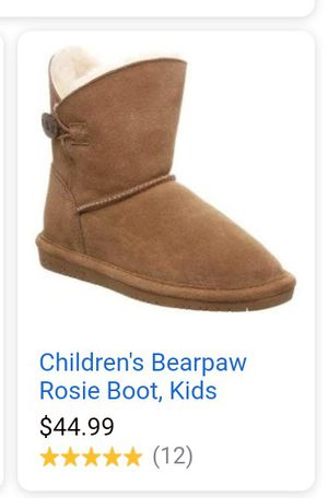 Bearpaw, 2 pairs girls boots size 1 and size 2 for Sale in Chico, CA