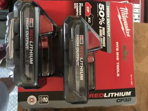 Milwaukee M18 High Output Batteries 2 Pack for Sale in Philadelphia, PA