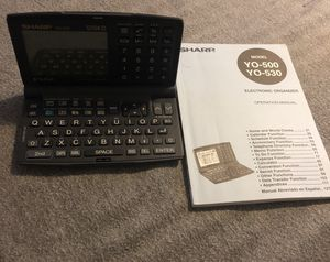 Sharp electronic organizer model YO-500. # 7F 081852. Good condition for Sale in Seattle, WA